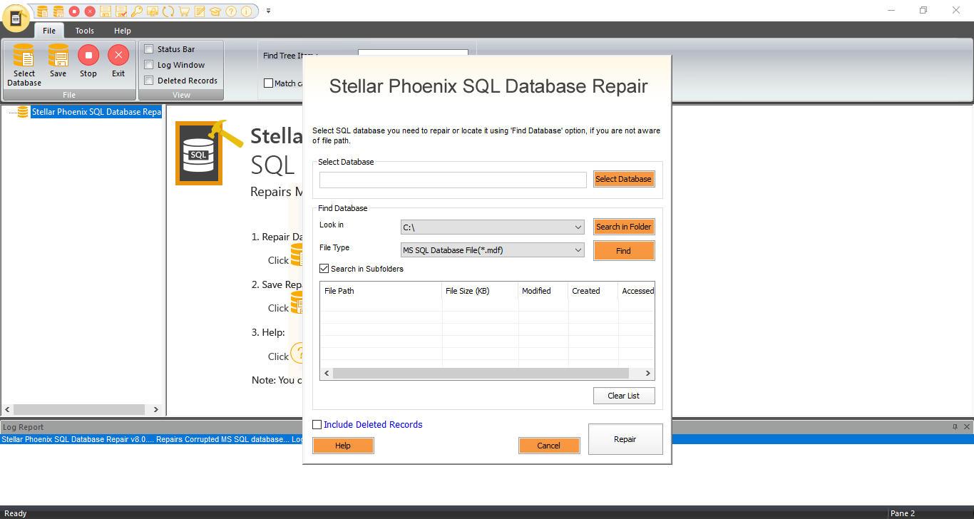 Repair SQL Database Files