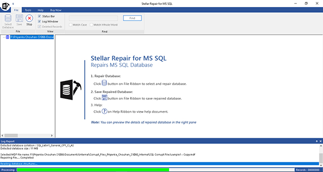 Stellar Repair for MS SQL screenshot
