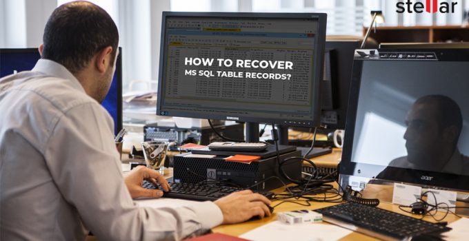 recover sql table records