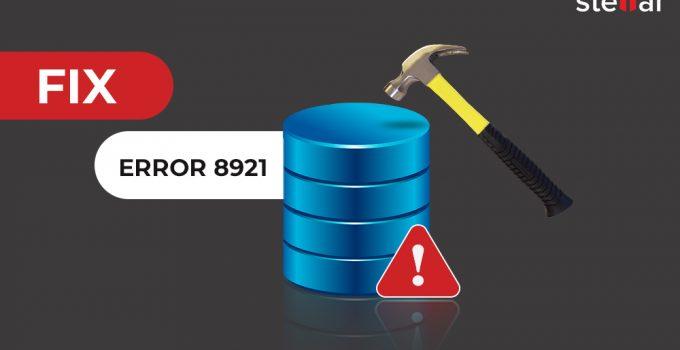 SQL database error 8921
