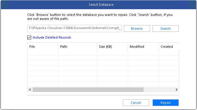 Stellar Repair for MS SQL screenshot
